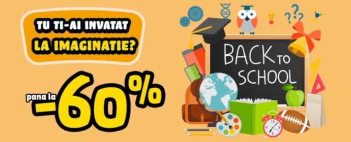 Reduceri de pana la 60% | Back to School